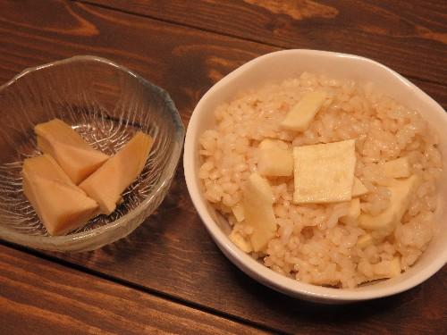 タケノコご飯とタケノコの煮物